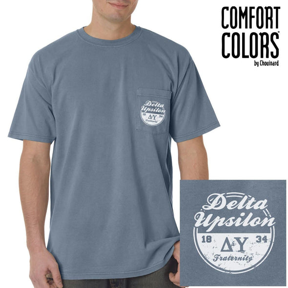 DU Vintage Blue Comfort Colors Pocket Tee