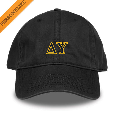 Delta Upsilon Personalized Black Hat