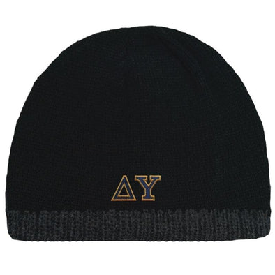 Sale! DU Black Knit Beanie with Fleece Lining