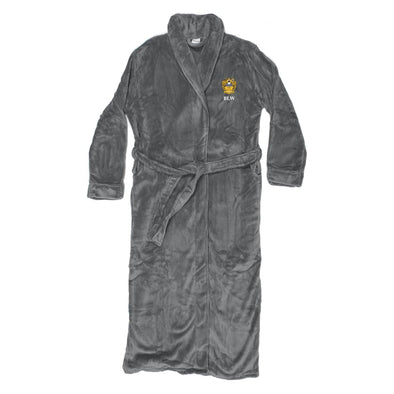 Delta Upsilon Personalized Charcoal Ultra Soft Robe