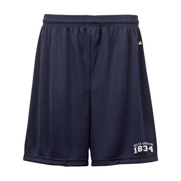 "Delta Upsilon 7"" Non-Pocketed Shorts"