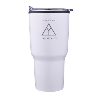 Delta Upsilon Personalized 30oz White Tumbler