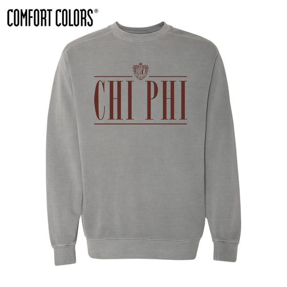 Chi Phi Gray Comfort Colors Crewneck