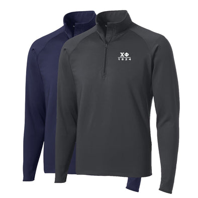 New! Chi Phi Performance Essential Quarter-Zip Pullover