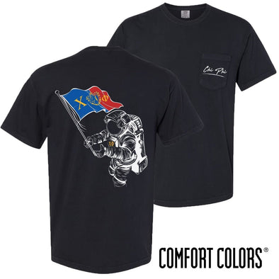 New! Chi Phi Comfort Colors Astronaut Short Sleeve Tee