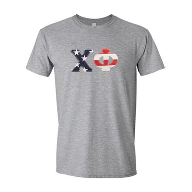 Chi Phi Stars & Stripes Sewn On Letter Tee