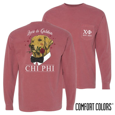 Chi Phi Comfort Colors Sweetheart Retriever Tee