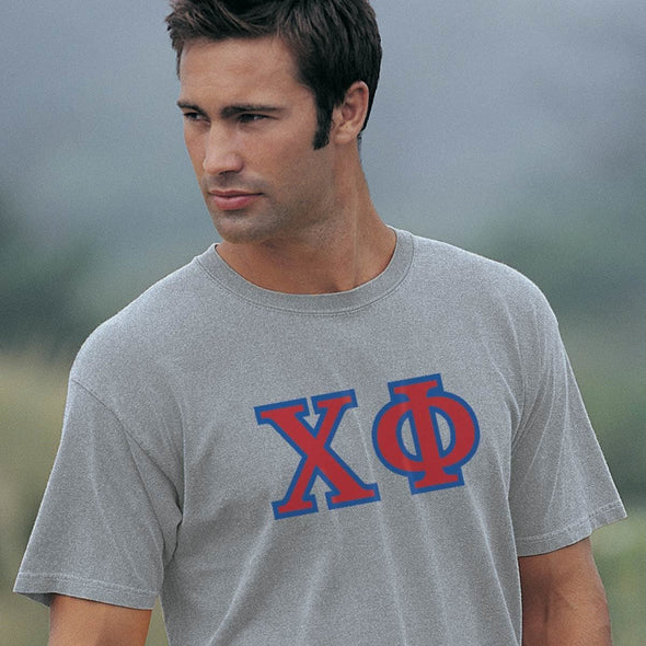 Chi Phi Heather Gray Greek Letter Tee