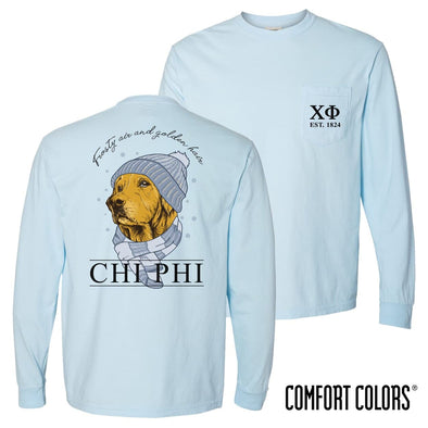 Chi Phi Comfort Colors Winter Retriever Tee
