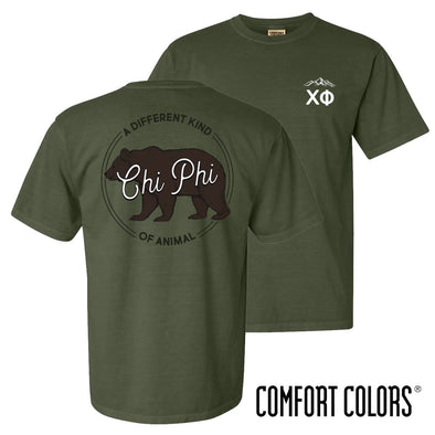 New! Chi Phi Comfort Colors Animal Tee