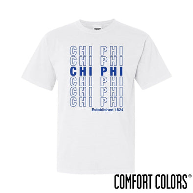 Chi Phi Comfort Colors White Thank You Bag Tee