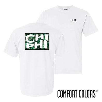 Chi Phi Comfort Colors White Short Sleeve Jungle Tee