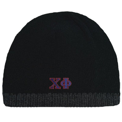 Sale! Chi Phi Black Knit Beanie with Fleece Lining