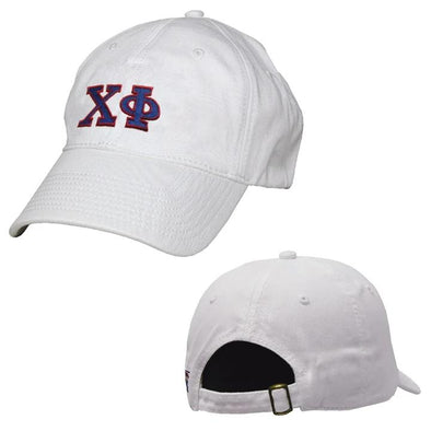 Chi Phi White Greek Letter Adjustable Hat