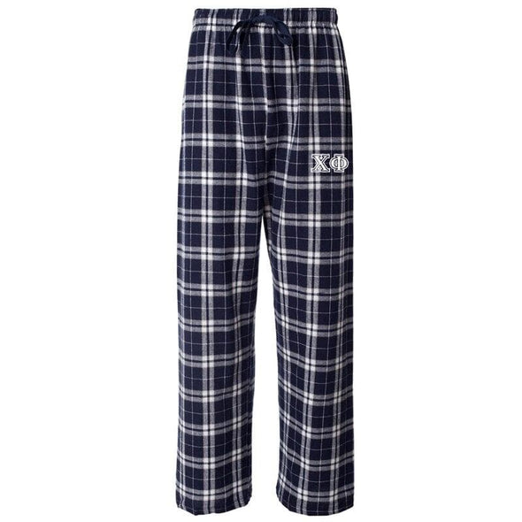 Chi Phi Navy Plaid Flannel Pants