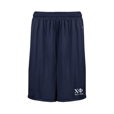 Chi Phi Navy Pocketed Performance Shorts