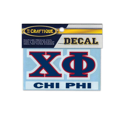 Chi Phi Greek Letter Decal