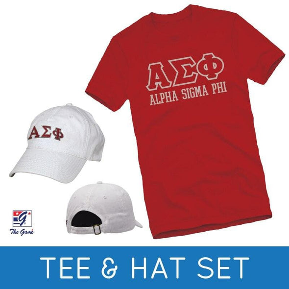 Sale! Alpha Sigma Phi Tee & Hat Gift Set