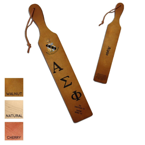Alpha Sigma Phi Personalized Traditional Paddle