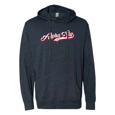 New! Alpha Sig Retro Lightweight T-Shirt Hoodie