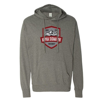 Alpha Sig Lightweight Mountain T-Shirt Hoodie