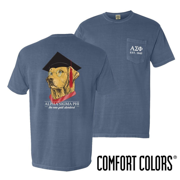 New! Alpha Sig Comfort Colors Retriever Grad Tee
