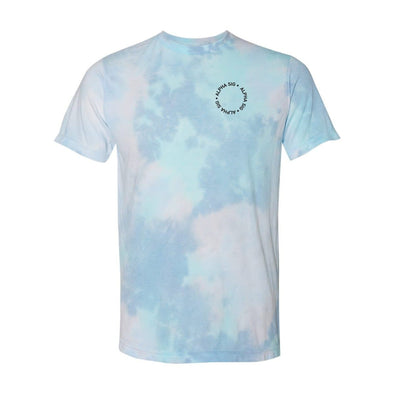 New! Alpha Sig Super Soft Tie Dye Tee