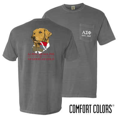 New! Alpha Sig Comfort Colors Retriever Flag Tee