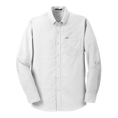 Sale! Alpha Sigma Phi White Button Down Shirt