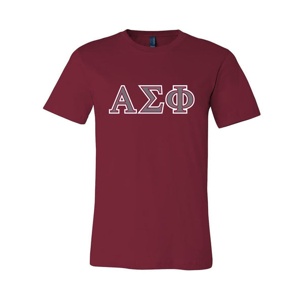 Alpha Sig Cardinal Essential Letter Tee