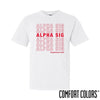 Alpha Sig Comfort Colors White Thank You Bag Tee