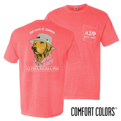 New! Alpha Sig Comfort Colors Boonie Retriever Tee