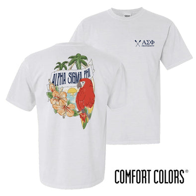 New! Alpha Sig Comfort Colors Tropical Tee