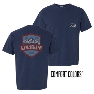 Alpha Sig Comfort Colors Mountain Pocket Tee