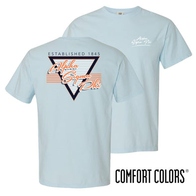 New! Alpha Sig Comfort Colors Retro Flash Tee