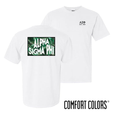 Alpha Sig Comfort Colors White Short Sleeve Jungle Tee