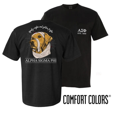 Alpha Sig Comfort Colors Halloween Retriever Tee