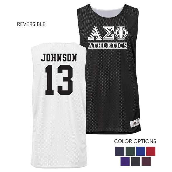 Alpha Sigma Phi Personalized Intramural Athletics Reversible Mesh Tank