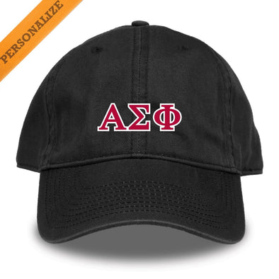 Alpha Sig Personalized Black Hat