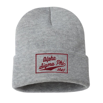 New! Alpha Sig Classic Knit Beanie