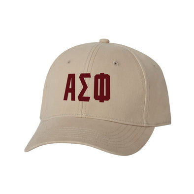 Alpha Sig Structured Greek Letter Hat