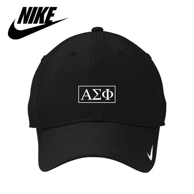 Alpha Sig Black Nike Dri-FIT Performance Hat