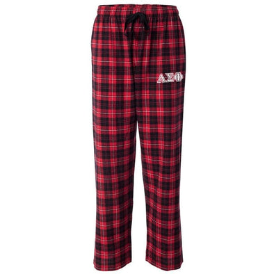 Alpha Sig Red Plaid Flannel Pants