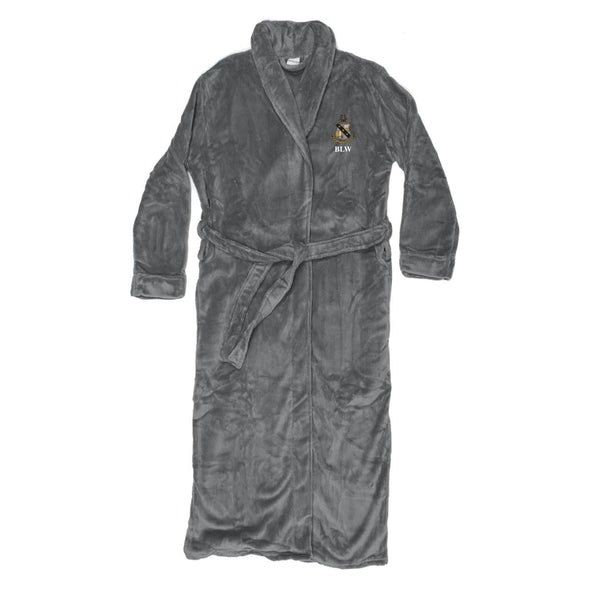 Alpha Sig Personalized Charcoal Ultra Soft Robe