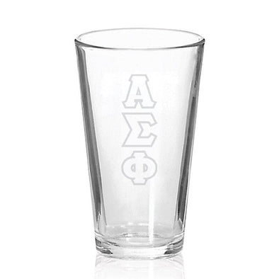 Sale! Alpha Sigma Phi Engraved Fellowship Glass