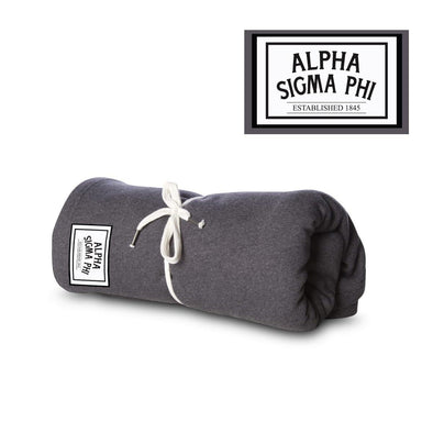 New! Alpha Sig Sewn Patch Blanket
