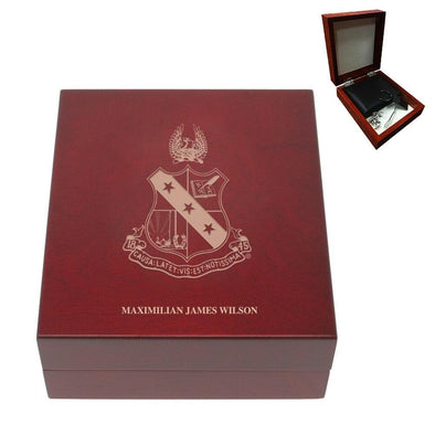 Sale! Alpha Sigma Phi Personalized Rosewood Box