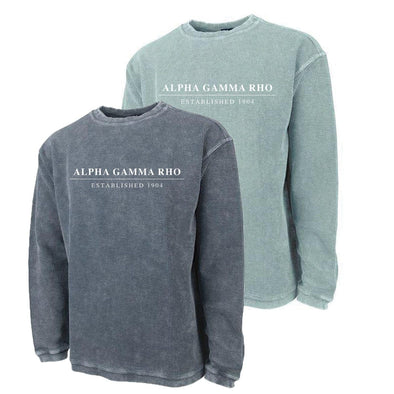 New! AGR Charles River Corded Crew Sweatshirt