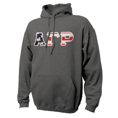 AGR Stars & Stripes Sewn On Letter Hoodie