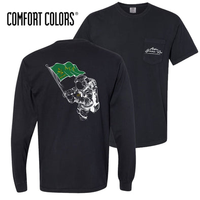 AGR Comfort Colors Black Astronaut Pocket Tee